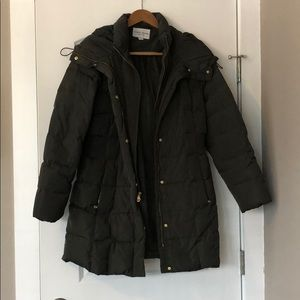 Cole Haan Hooded Down & Feather Coat
